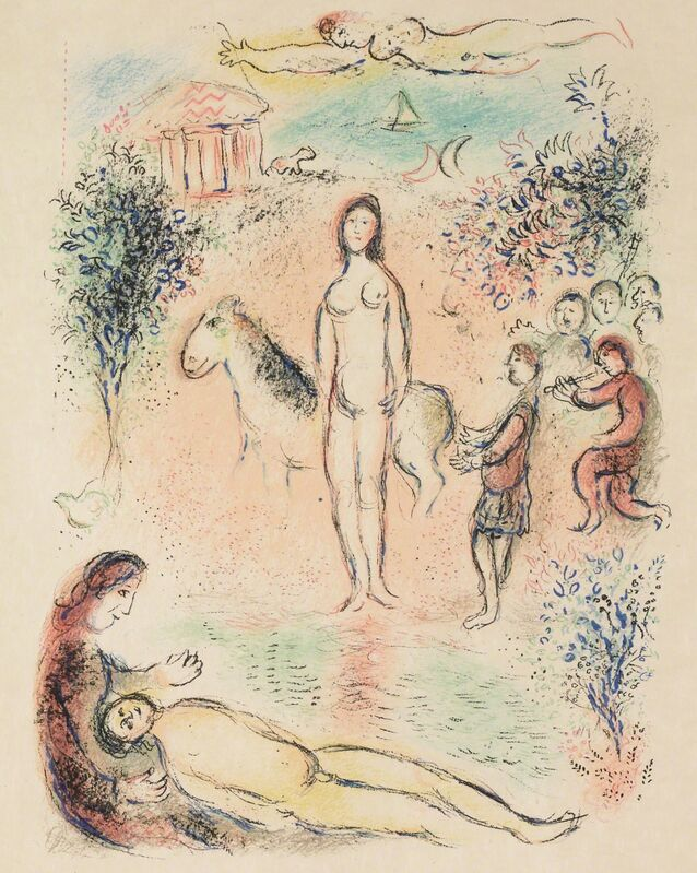 Marc Chagall, 'Frontispiece, Second Volume (M.788, L'Odyssée)', 1974, Print, Lithograph, Martin Lawrence Galleries