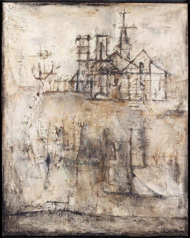 Zao Wou-Ki 趙無極, 'La Cathédrale', 1951, Painting, Applicat-Prazan