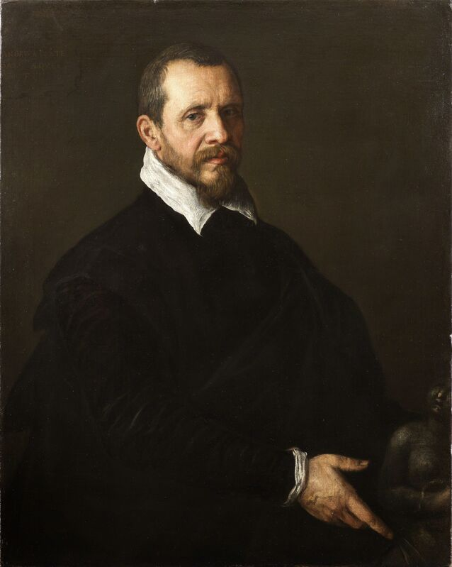 Leandro Bassano, 'Portrait of a Gentleman with a Sculpture', ca. 1595, Painting, Oil on canvas, Robilant + Voena
