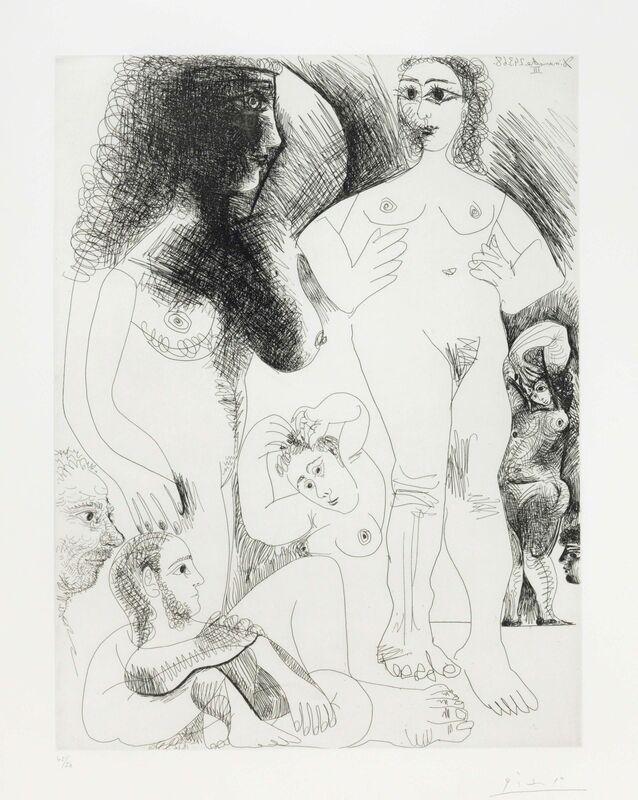 Pablo Picasso, 'Odalisques avec deux hommes rêvant, from La Série 347', 1968, Print, Etching on Rives paper, Christie's