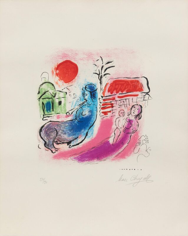 Marc Chagall, 'Maternite au centaure', 1957, Print, Color lithograph, Hindman