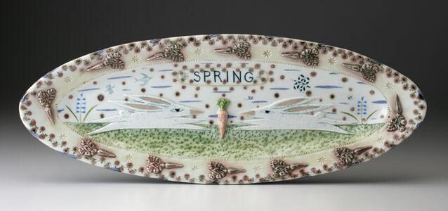 Mara Superior, 'Spring Two Rabbits Relief', 2001