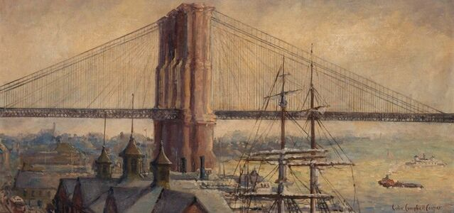 Colin Campbell Cooper, 'View of the Brooklyn Bridge'