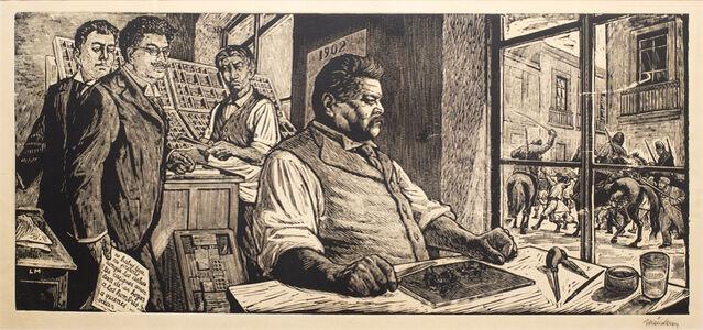 Leopoldo Mendez, 'Posada in His Workshop (Homage to Posada)', 1956