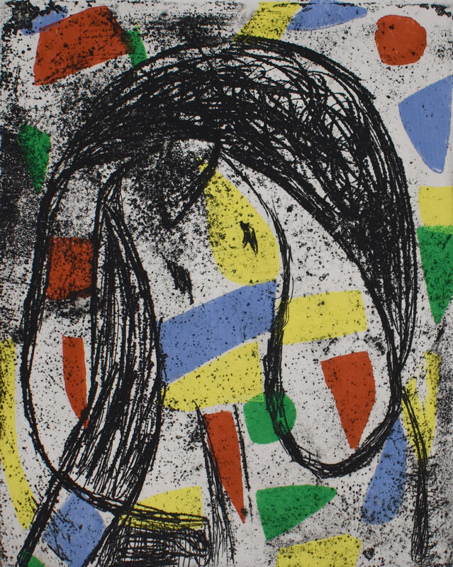 Joan Miró, 'The Revolt of the Letters | La Révolte des Caractères ', 1982, Print, Original Hand Signed and Numbered Etching and Aquatint in Colours on Wove Paper, Gilden's Art Gallery