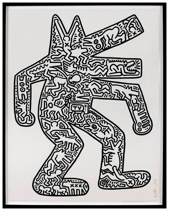 Keith Haring, 'Dog', 1986, Print, Lithograph, EXTRAORDINARY OBJECTS