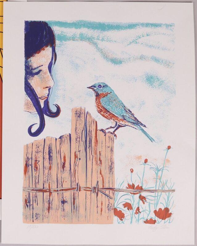 Judy Stein, 'Girl with Sparrow', 1970, Print, Silkscreen, Puccio Fine Art