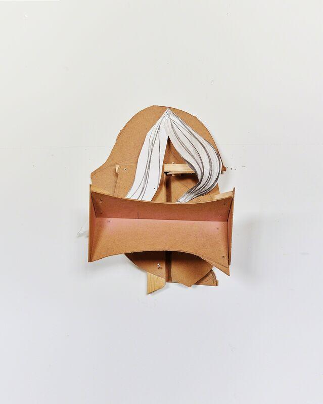 Matthias Zinn, 'Untitled (Head)', 2017, Sculpture, Fiber wood, pine wood, paper, spray paint, Mai 36 Galerie