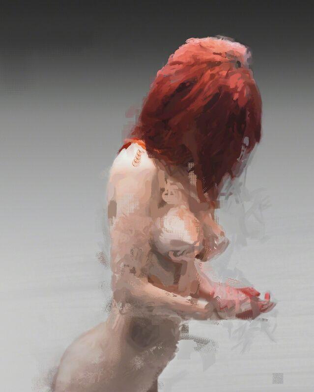 Gary Kaleda, 'Crimson Me', 2010, Painting, Duraflex silver halide print, digital painting, Susan Eley Fine Art