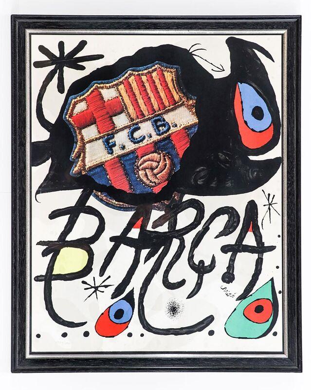Joan Miró, '75 Aniversario del Barça', 1974, Print, Lithograph on paper, Samhart Gallery