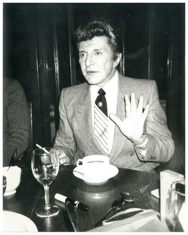Andy Warhol, 'Andy Warhol, Photograph of Liberace circa 1984', 1984, Photography, Silver gelatin print, Hedges Projects