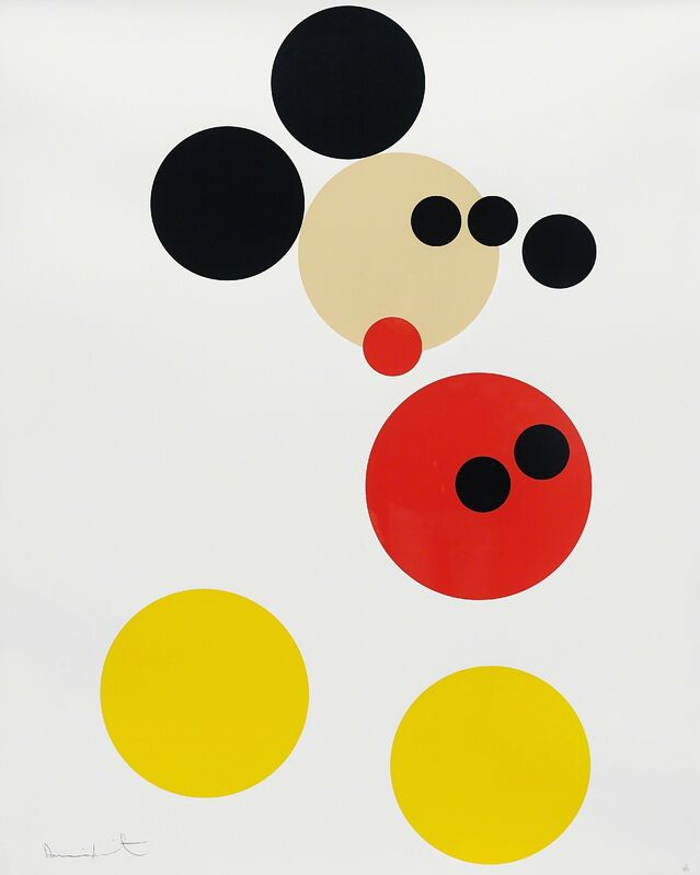 Damien Hirst, 'Mickey', 2014, Print, Screenprint in colours with glaze, on wove paper, with full margins, Phillips