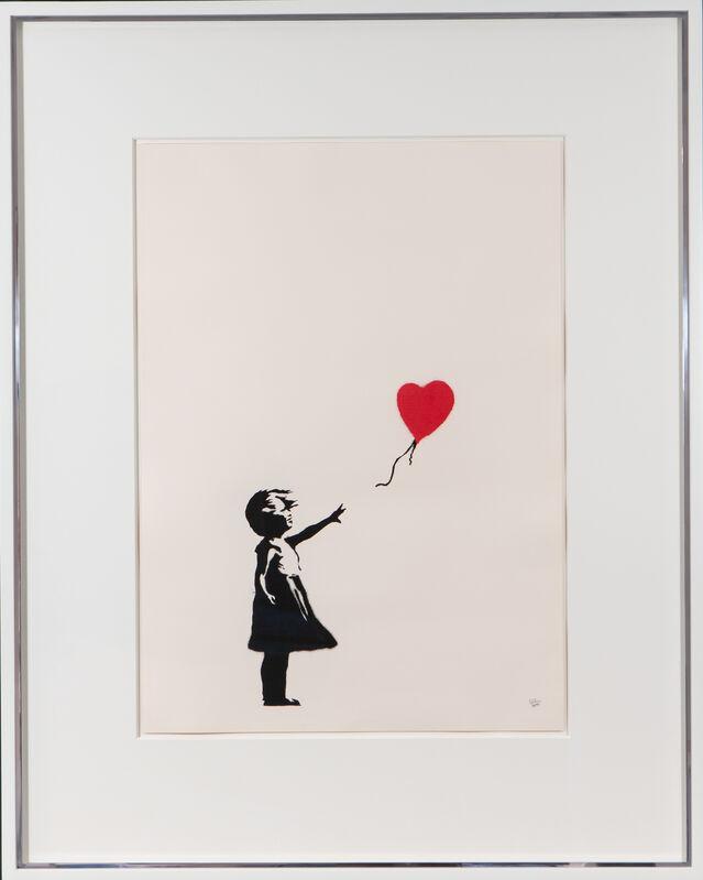 Banksy, 'Girl With Balloon', 2004, Print, Screenprint. Signed., The Drang Gallery