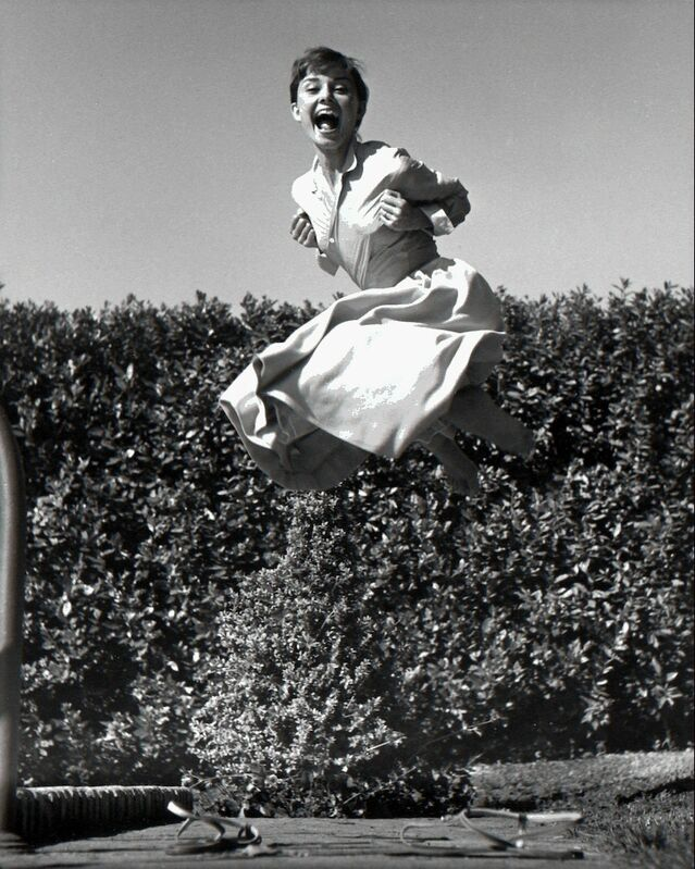 Philippe Halsman, 'Audrey Hepburn, jump series / Vintage Print ', 1955, Photography, Silver gelatin print /Vintage, °CLAIRbyKahn Galerie