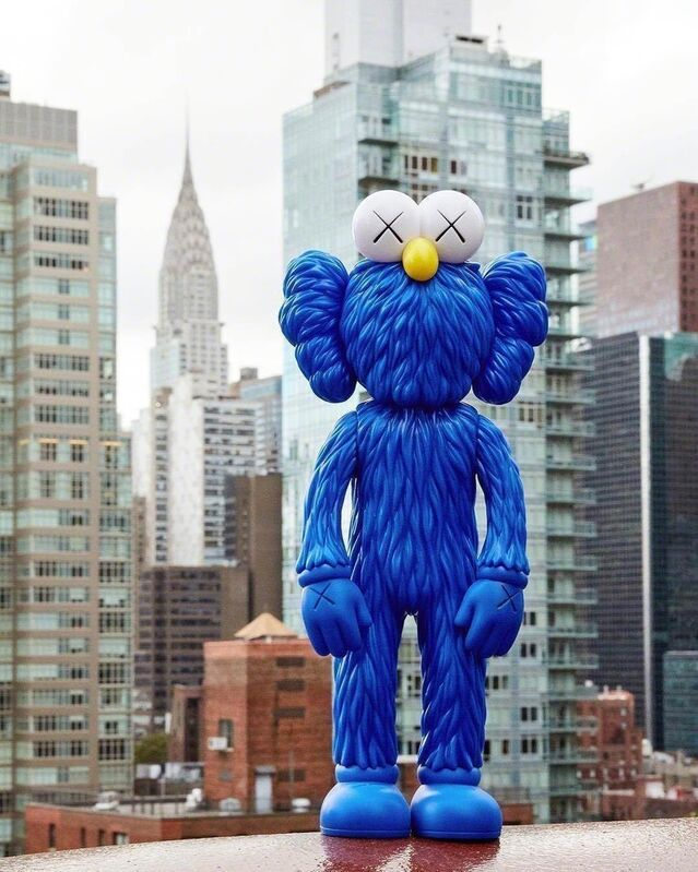 KAWS, 'BFF Vinyl Blue (MOMA Exclusive)', 2017, Sculpture, Exclusive limited edition painted cast vinyl multiple blue. brand new in original box., Alpha 137 Gallery Gallery Auction