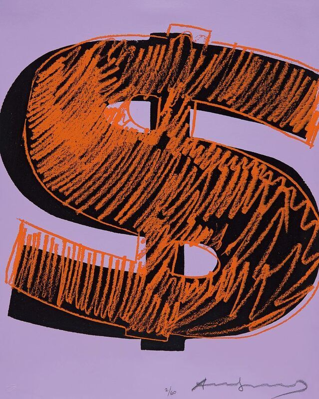 Andy Warhol, 'Dollar Sign', 1982, Print, Unique screenprint in colours, on Lenox Museum board, Gallery Red