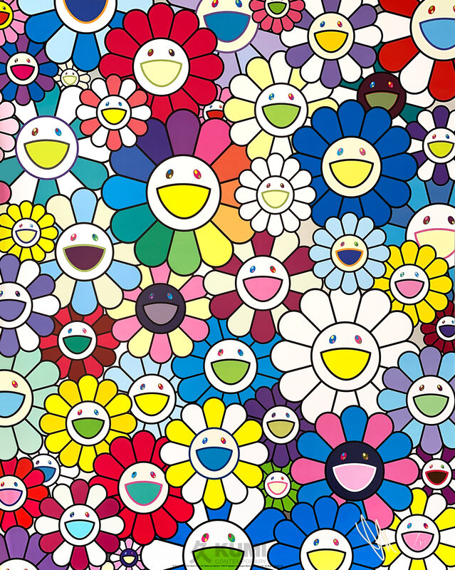 Takashi Murakami, 'A Field of Flowers Seen from the Stairs to Heaven', 2018, Print, Lithograph, Kumi Contemporary / Verso Contemporary