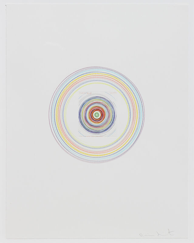 Damien Hirst, 'Like a Snowball Down a Mountain', 2002, Drawing, Collage or other Work on Paper, Lithograph, colored pencil on paper, Søren & Co.