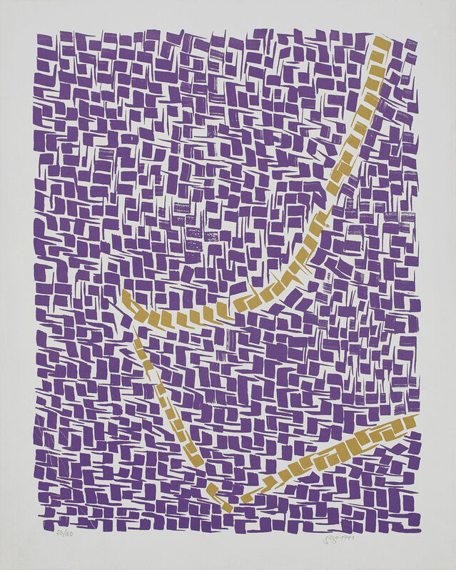 Gego, 'Acumulación', 1991, Print, Screenprint in colors, on grey cardboard, with full margins., Phillips