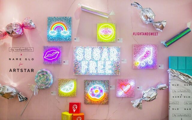 Robyn Blair x Name Glo for ArtStar, installation view