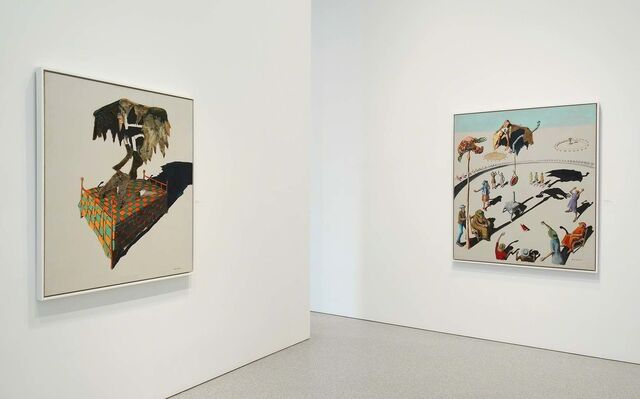 Benny Andrews: The Bicentennial Series, installation view
