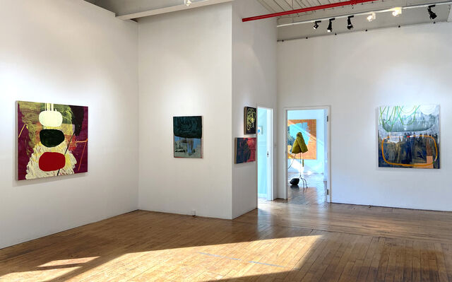 Becky Yazdan: Setting Fires with works by Jana Paleckova, installation view