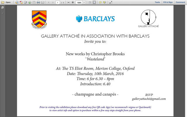 GALLERY ATTACHÉ IN ASSOCIATION WITH BARCLAYS, installation view