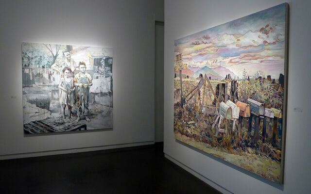 "Hung Liu ""Fetching Water"", installation view"