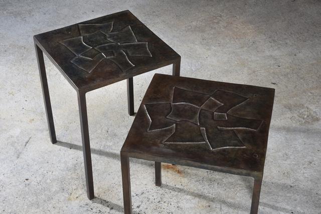 Pierre sabatier recto verso pair of coffee tables - Artsy coffee tables ...