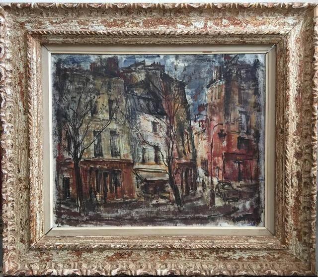 Quai De La Tournelle, 1950's Paris, Oil