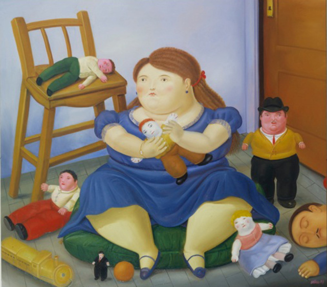 1984 Toys For Girls : Fernando botero girl with toys available for