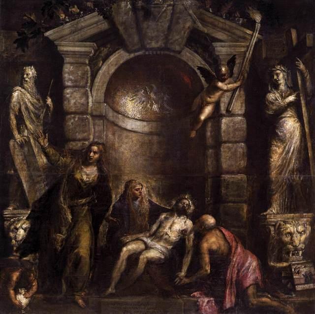 Titian | Pietà (ca. 1570-76) | Artsy