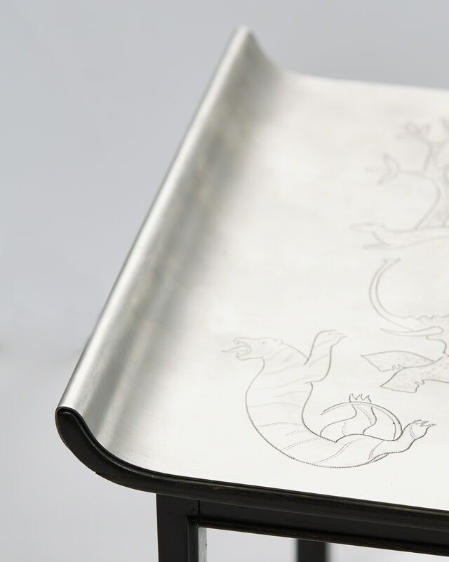 Nils Fougstedt, 'Occasional Table', 1932, Design/Decorative Art, Pewter, ebonized wood, Modernity