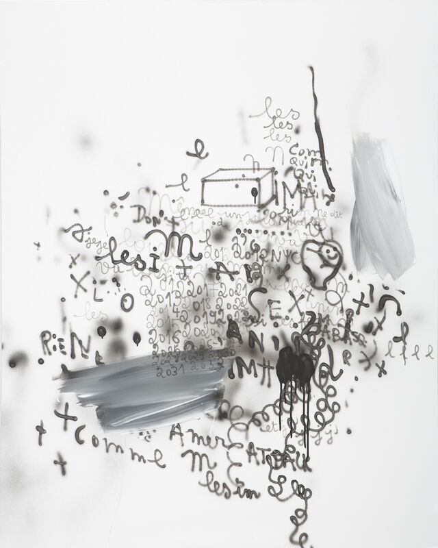 Anne-Lise Coste, 'RIEN SEX M', 2012, Painting, Airbrush and tempera on canvas, Nogueras Blanchard