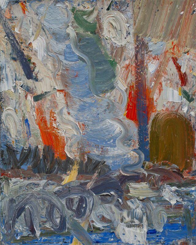 John Santoro, 'Hong Kong Thunderstorms: Red Rain', 2014, Painting, Oil on canvas, Paul Thiebaud Gallery