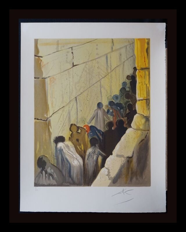Salvador Dalí, 'Aliyah The Wailing Wall', 1968, Print, Lithograph, Fine Art Acquisitions Dali