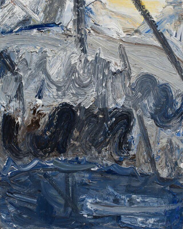 John Santoro, 'Hong Kong Thunderstorms: Black Rain', 2014, Painting, Oil on canvas, Paul Thiebaud Gallery