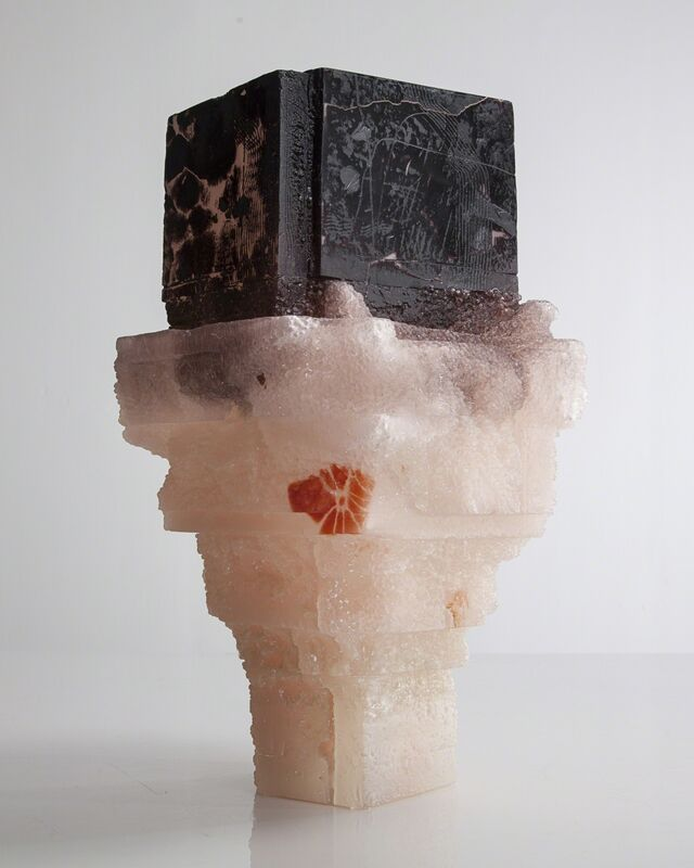 Thaddeus Wolfe, 'Unique Assemblage vessel in black and pale pink with pink interior hand-blown, cut and polished glass', 2015, Design/Decorative Art, Glass, R & Company