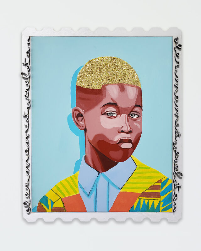 Conrad Egyir, 'Golden Hair in Choir', 2020, Painting, Oil and mixed media on canvas, ARTNOIR Benefit Auction