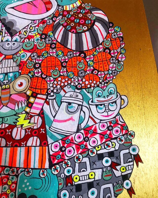 Ferris Plock, 'Look Both Ways', 2019, Painting, Gouache on wood panel, Hashimoto Contemporary