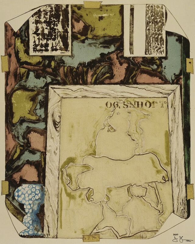 Jasper Johns, 'Untitled', 1992, Print, 8-color lithograph, Gemini G.E.L. at Joni Moisant Weyl