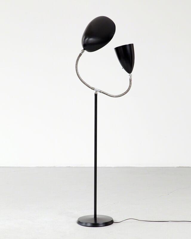 "Greta Magnusson Grossman, 'Floor lamp with one ""Grasshopper"" shade and one ""Cobra"" shade', 1950, Design/Decorative Art, Aluminum, chrome-plated steel, R & Company"