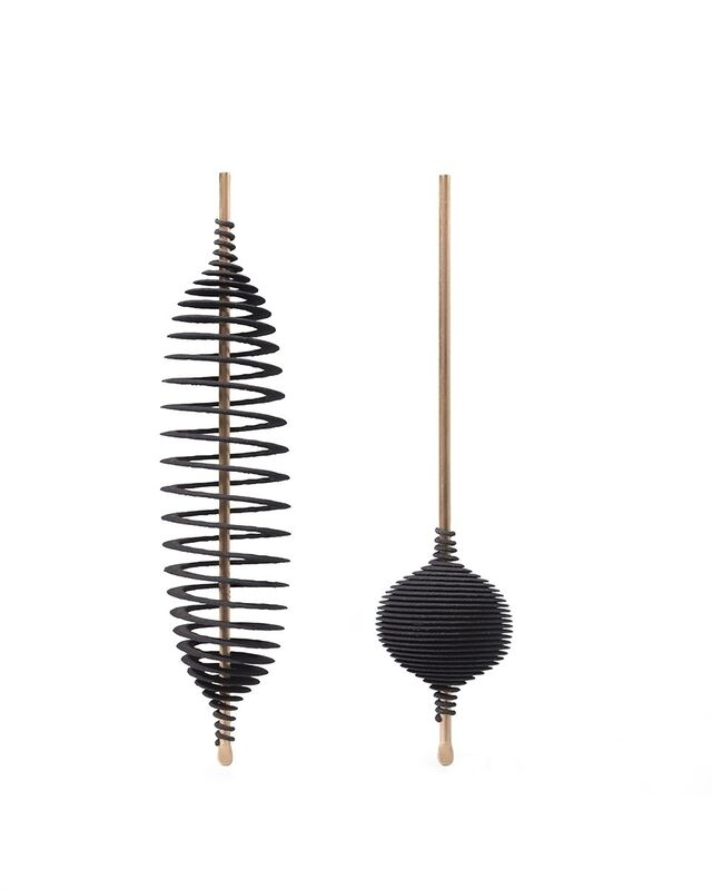 Ron Arad, 'Hot Ingo Earrings', 2015, Jewelry, 18k rose gold, black laser sintered polyamide with wooden case & edition card, Louisa Guinness Gallery