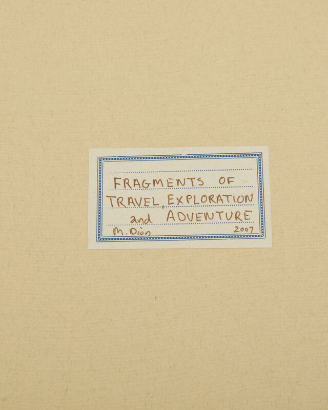 Mark Dion, 'Fragments of Travel, Exploration and Adventure', 2007, Books and Portfolios, Illustrated book with tipped-in and loose lithographs and digital prints in a canvas-bound hard jacket, John Moran Auctioneers
