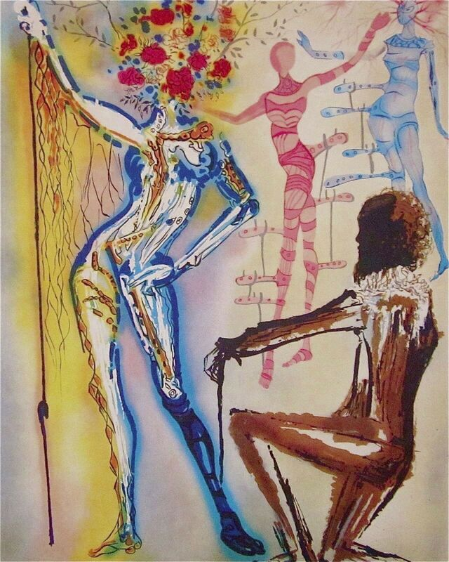 Salvador Dalí, 'The Ballet of the Flowers', 1989, Print, Lithograph on heavyweight wove paper, Art Commerce