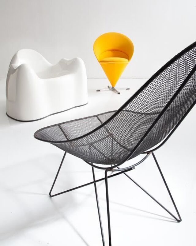 """Verner Panton, 'Chair K1 or """"Cone Chair""""', 1958, Design/Decorative Art, Surface lightly upholstered and covered with fabric. Legs made of steel., R & Company"""