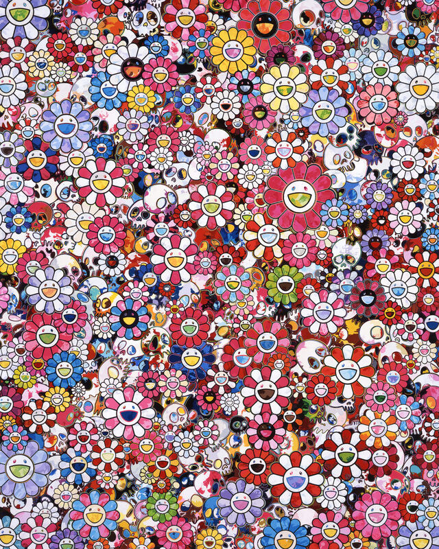 Takashi Murakami, 'Hold peace and darkness in your circus heart', 2020, Print, Offset print with silver, Pinto Gallery