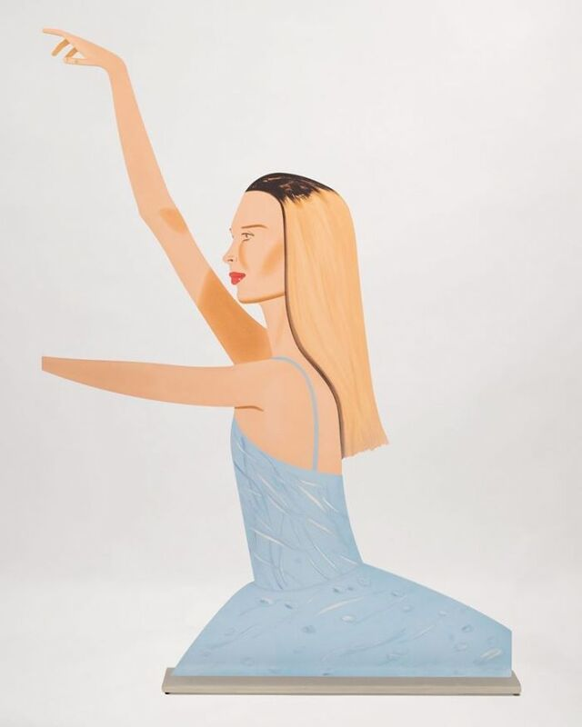 Alex Katz, 'Dancer 2', 2020, Sculpture, Cutout from shaped powder-coated aluminum, printed the same on each side with UV cured archival inks, clear coated,and mounted to aluminum base, Vertu Fine Art