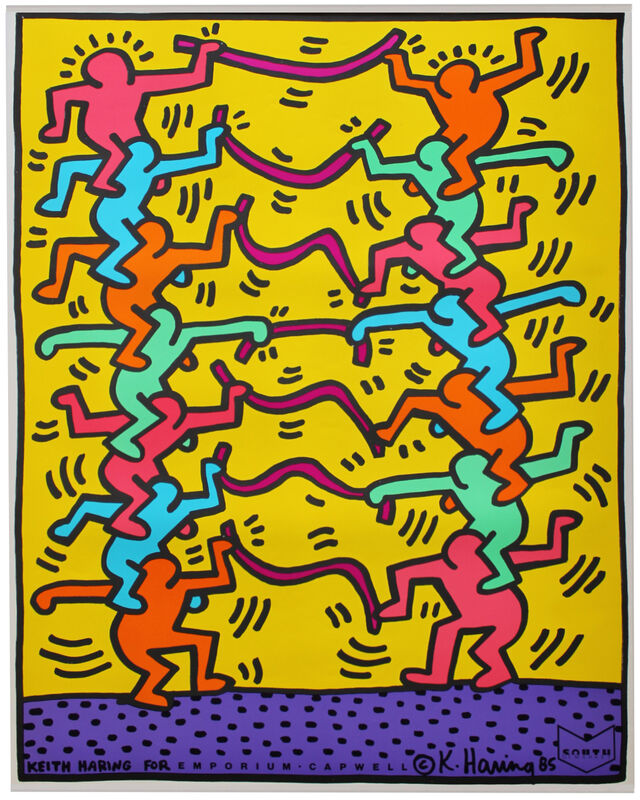 Keith Haring, 'Keith Haring for Emporium Capwell', 1985, Ephemera or Merchandise, Offset lithograph, EHC Fine Art