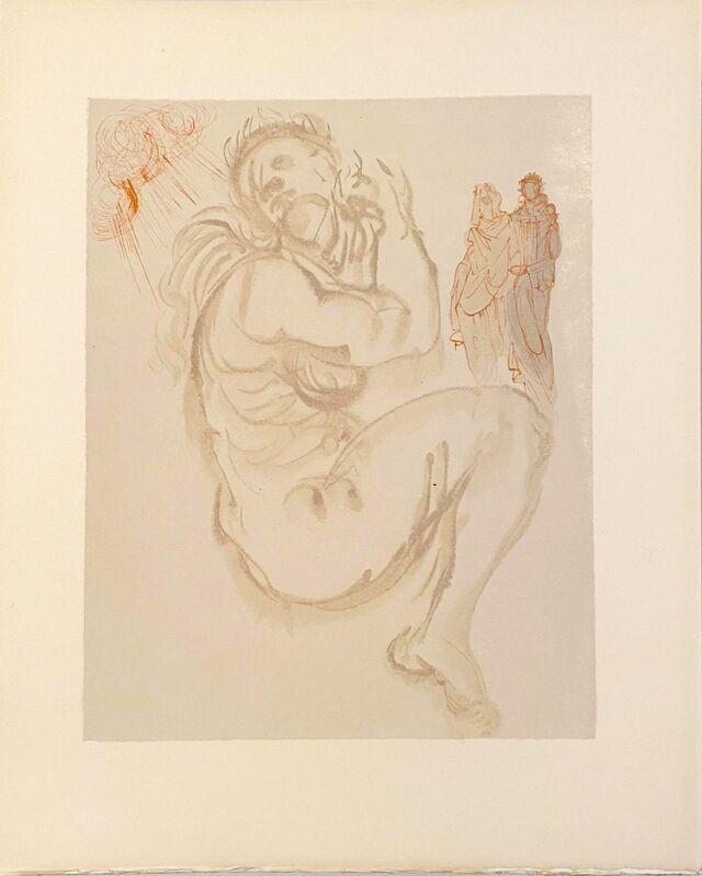 Salvador Dalí, 'La Divine Comédie - Purgatoire 19 - Le songe de Dante', 1963, Print, Original wood engraving on BFK Rives paper, Samhart Gallery